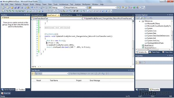 Verifying your code with unit tests: Visual Studio 2010 Essential Training