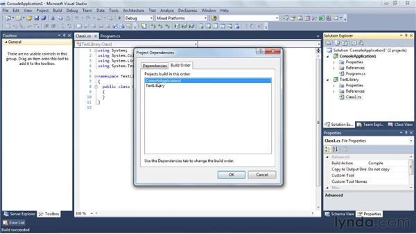 Building your application: Visual Studio 2010 Essential Training