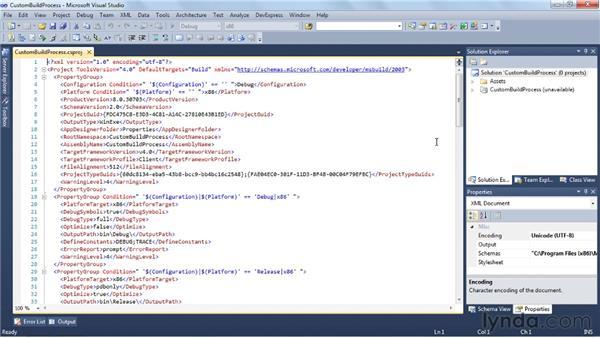 Customizing the build process with MSBuild: Visual Studio 2010 Essential Training