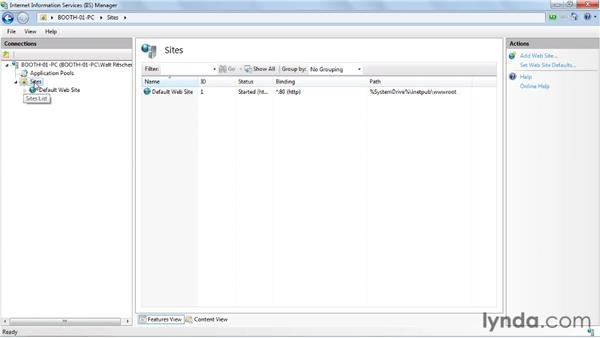 Setting up IIS for deploy: Visual Studio 2010 Essential Training