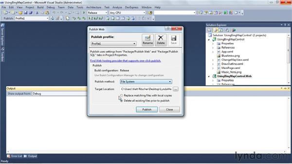 Deploying a Silverlight or ASP.NET application: Visual Studio 2010 Essential Training