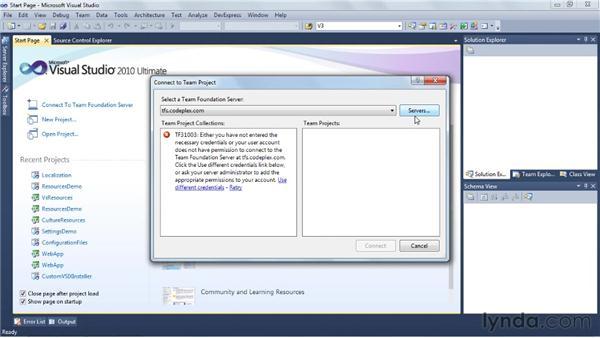 Setting up Team Foundation Server source control: Visual Studio 2010 Essential Training