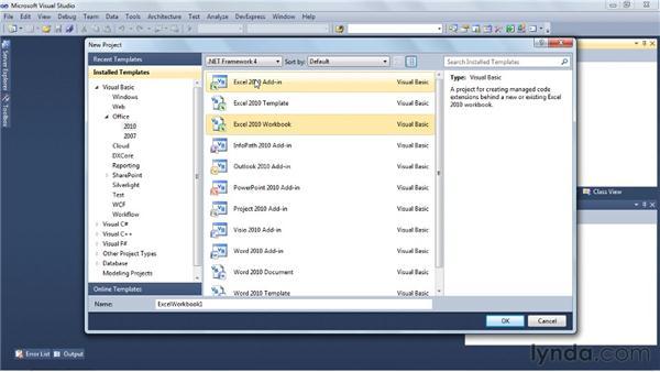 Understanding the .NET Office integration: Visual Studio 2010 Essential Training
