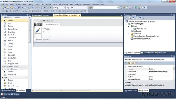 Making an Excel 2010 add-in: Visual Studio 2010 Essential Training