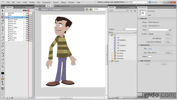 Creating Flash-friendly character design: Flash Professional CS5: Character Animation