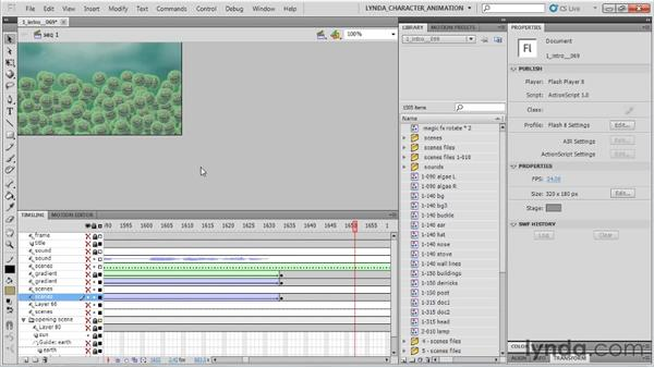 Animation rendering: SWF or AVI: Flash Professional CS5: Character Animation