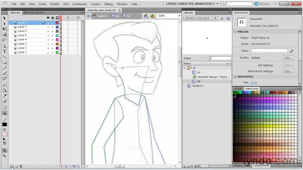 Vectorizing the head: Flash Professional CS5: Character Animation