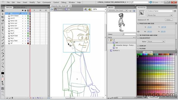Adding finishing touches with hair: Flash Professional CS5: Character Animation