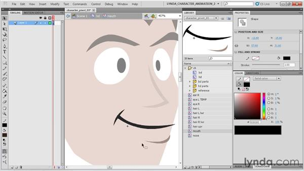 Pivoting the head: Flash Professional CS5: Character Animation
