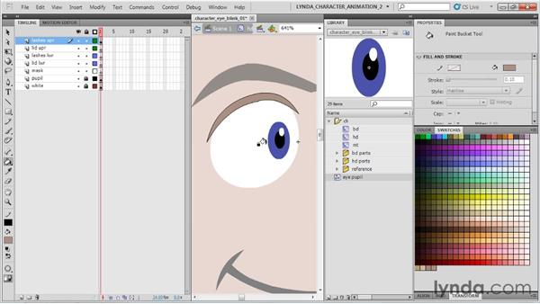 Rigging the eye: Flash Professional CS5: Character Animation