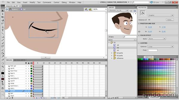 Getting the polished look: Flash Professional CS5: Character Animation