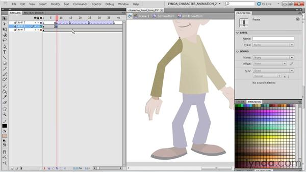 Animating the body movement: Flash Professional CS5: Character Animation