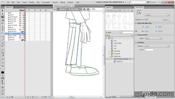 Creating a profile view: Flash Professional CS5: Character Animation