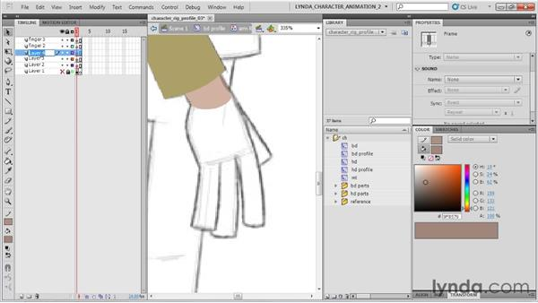 Creating the hand: Flash Professional CS5: Character Animation