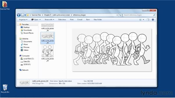 Reviewing the walk: Flash Professional CS5: Character Animation