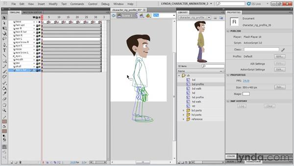 Prepping the walk: Flash Professional CS5: Character Animation