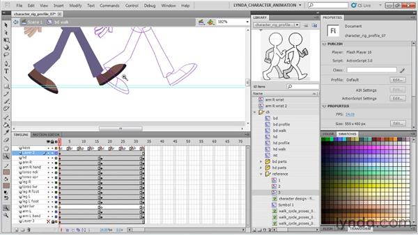 Creating secondary contact poses: Flash Professional CS5: Character Animation