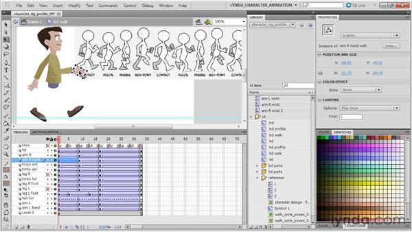 Creating the passing poses: Flash Professional CS5: Character Animation