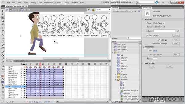 Animating the high point of the walk: Flash Professional CS5: Character Animation
