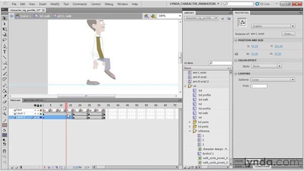 Adding in-betweens: Flash Professional CS5: Character Animation