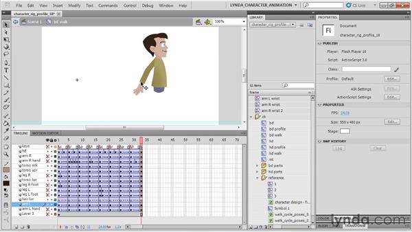 Nesting the hand symbols: Flash Professional CS5: Character Animation