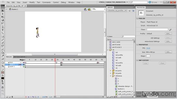 Repositioning the walk: Flash Professional CS5: Character Animation