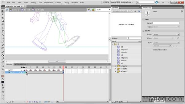 Setting up contact poses: Flash Professional CS5: Character Animation