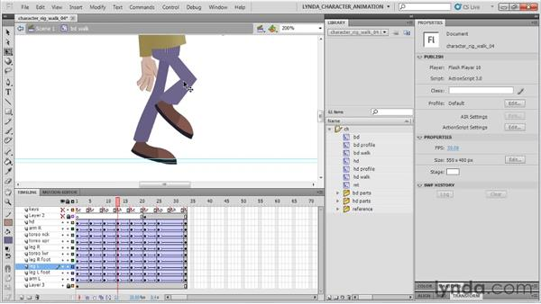 Animating the head's high point: Flash Professional CS5: Character Animation