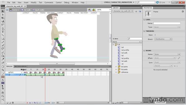 Tweening the legs: Flash Professional CS5: Character Animation