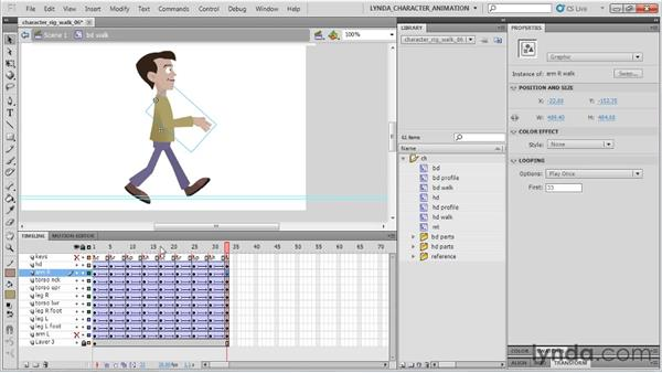 Tweening the arms: Flash Professional CS5: Character Animation