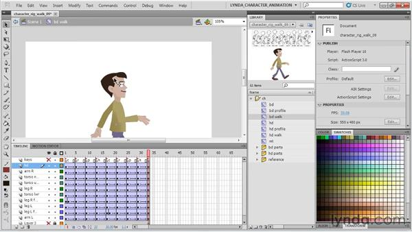 Animating the hair: Flash Professional CS5: Character Animation