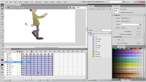 Animating the torso: Flash Professional CS5: Character Animation