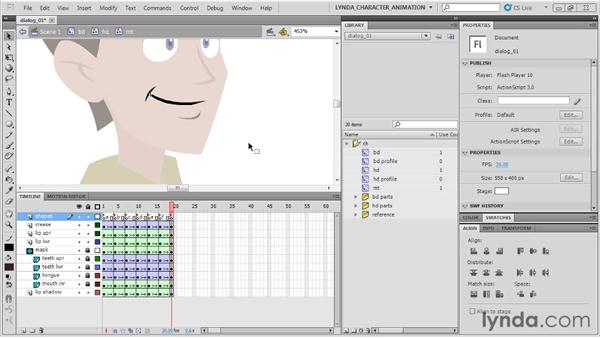 Understanding dialogue: Flash Professional CS5: Character Animation