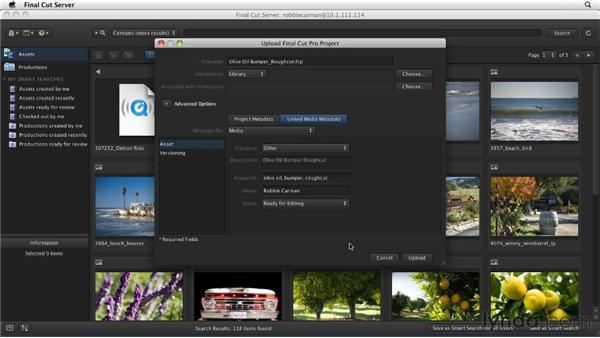 Adding Final Cut Studio projects to the catalog: Final Cut Server 1.5 Getting Started