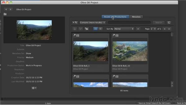 Working with productions: Final Cut Server 1.5 Getting Started