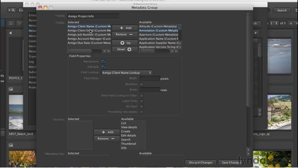 Creating a metadata group: Final Cut Server 1.5 Getting Started