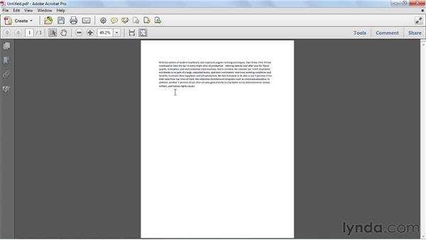 Creating PDFs from the clipboard: Acrobat X Essential Training