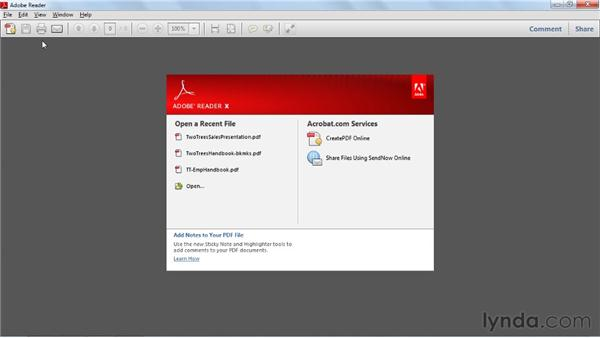 Creating initial view settings: Acrobat X Essential Training