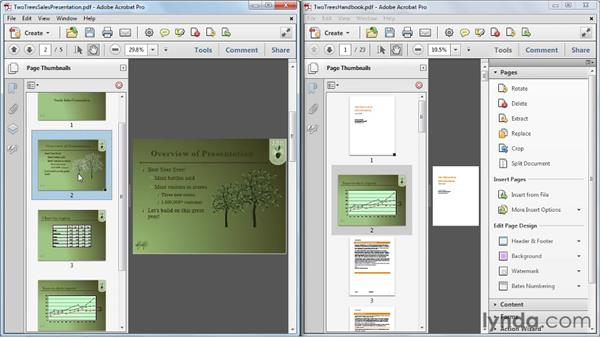 Moving, copying, and replacing pages: Acrobat X Essential Training