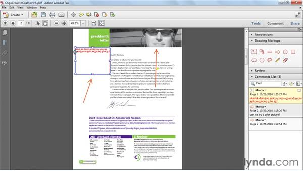 Using the drawing markup tools: Acrobat X Essential Training