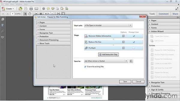 Editing Actions: Acrobat X Essential Training