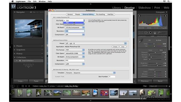 Should I work with TIFF or PSD files?: Lightroom 3 Advanced Techniques