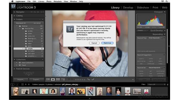 Optimizing catalogs: Lightroom 3 Advanced Techniques