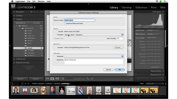 Setting up tethered capture: Lightroom 3 Advanced Techniques