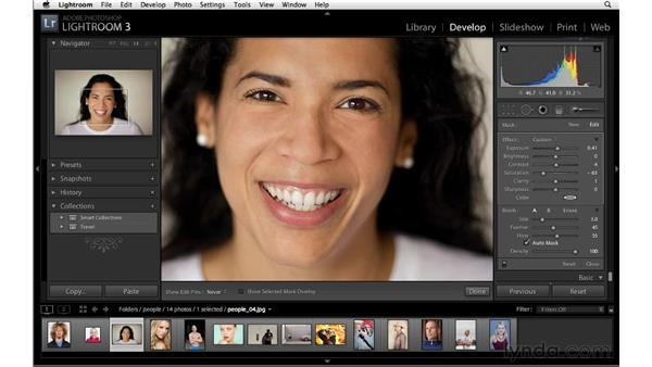 Whitening teeth: Lightroom 3 Advanced Techniques