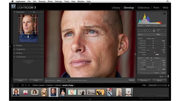 Reducing small blemishes: Lightroom 3 Advanced Techniques