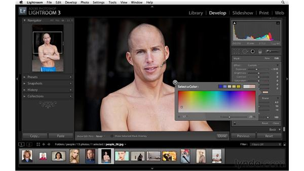 Darkening or dodging with the Adjustment brush: Lightroom 3 Advanced Techniques