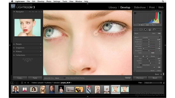 Retouching workflow with Photoshop and Lightroom, pt. 2: Smoothing skin: Lightroom 3 Advanced Techniques