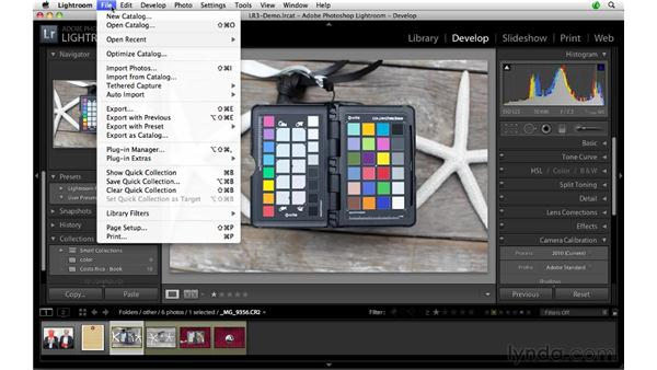 Creating and exporting a ColorChecker Passport profile: Lightroom 3 Advanced Techniques