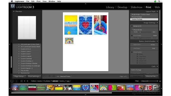 Custom grid layouts: Lightroom 3 Advanced Techniques